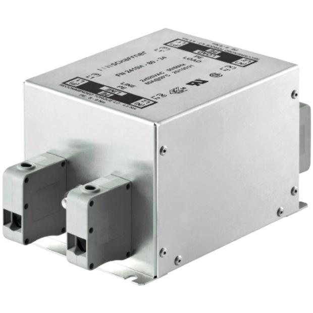 מסנן EMC / RFI עם חיבור לפאנל - סדרה 25A - FN2410 SCHAFFNER