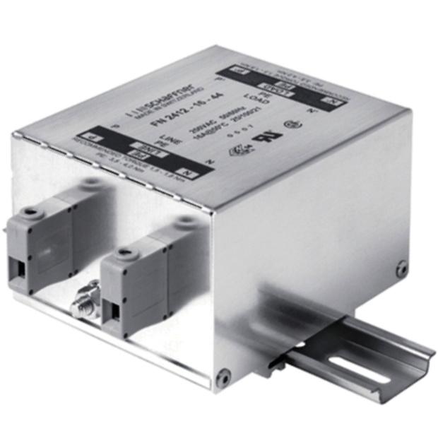 מסנן EMC / RFI עם חיבור לפס דין - סדרה 8A - FN2412H SCHAFFNER