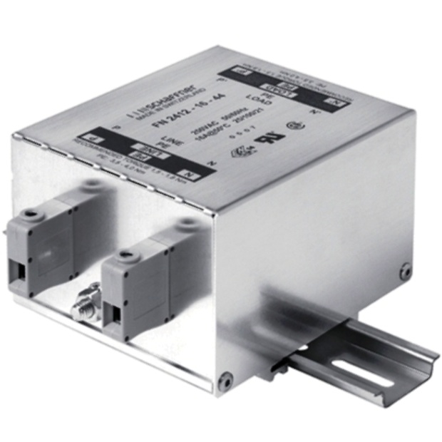 מסנן EMC / RFI עם חיבור לפס דין - סדרה 32A - FN2412H SCHAFFNER