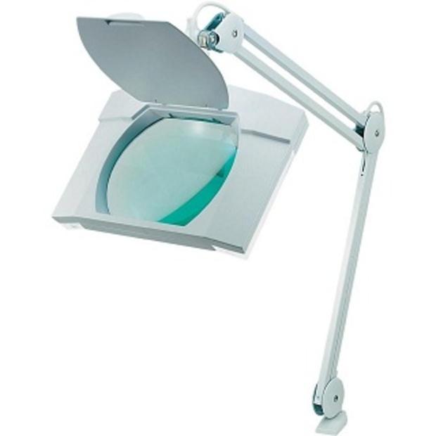 זכוכית מגדלת שולחנית עם תאורה - הגדלה X3 LIGHTCRAFT