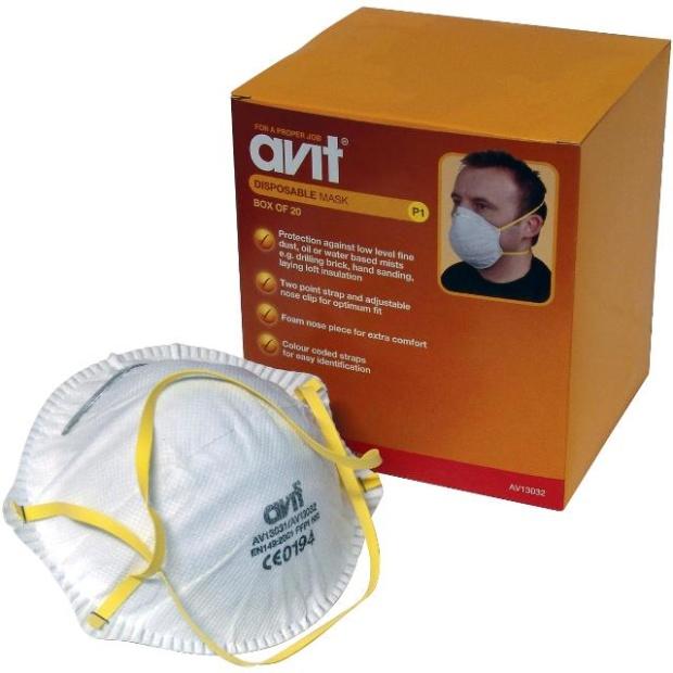 חבילת מסכות הגנה (נשמיות) מקצועיות - AVIT FINE LEVEL P1 AVIT