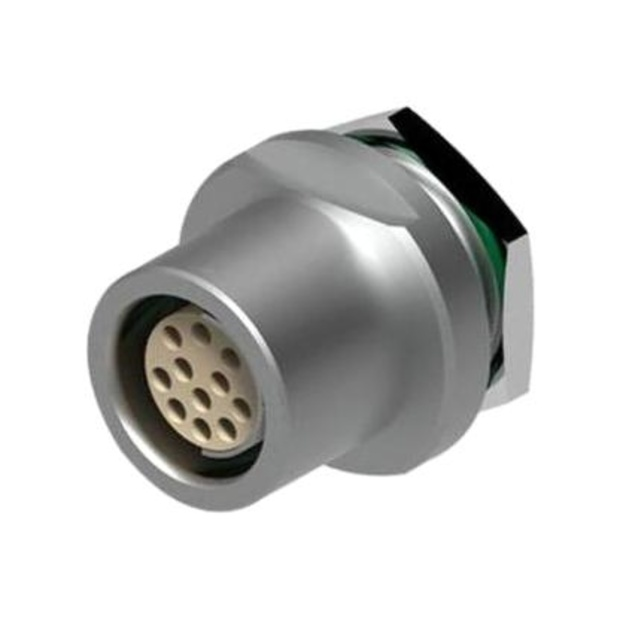 מחבר FISCHER - נקבה לפנל - 12 מגעים - DBEU 1031-A012-130 FISCHER CONNECTORS