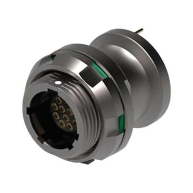 מחבר FISCHER - נקבה לפנל - 10 מגעים - UR02W07 F010P BK1 E2AB FISCHER CONNECTORS