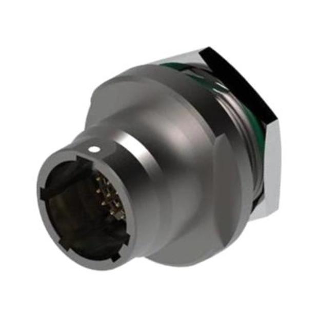 מחבר FISCHER - נקבה לפנל - 9 מגעים - UR03W07 F009P BK1 E2NB FISCHER CONNECTORS