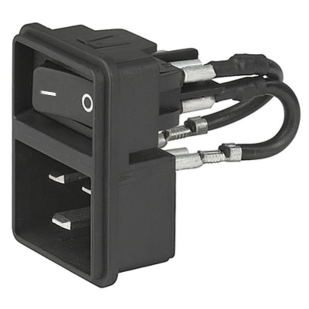 תקע חשמל IEC עם נעילת 16A , 2POL SW , SNAP - V-LOCK SCHURTER