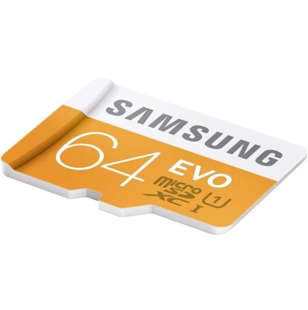 כרטיס זיכרון - SAMSUNG EVO - MICROSD 64GB - 48MB/S SAMSUNG