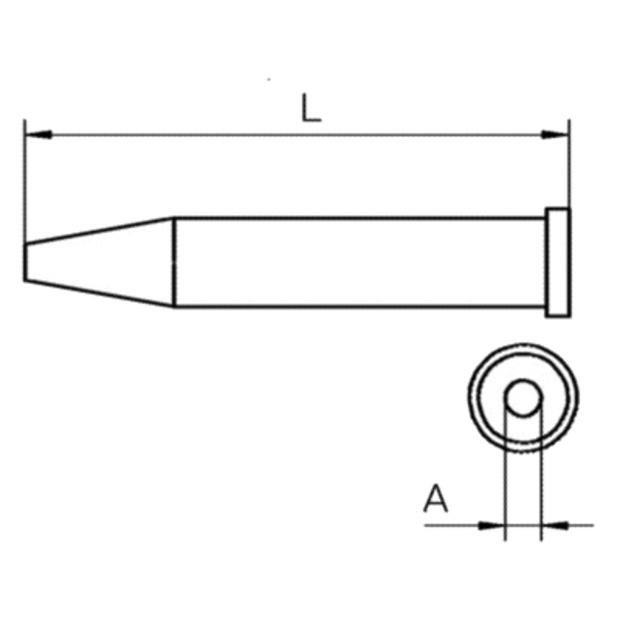 ראש למלחם - WELLER XT BS - ROUND 2.4MM WELLER