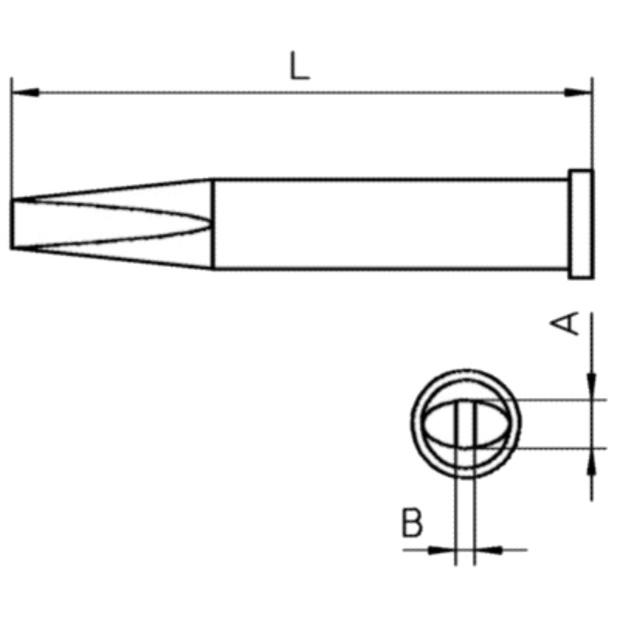 ראש למלחם - WELLER XT M - CHISEL 3.2MM WELLER