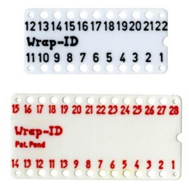 לוחית ID ממוספרת ''0.3 WIRE WRAP לתושבות - 28 מגעים MULTICOMP