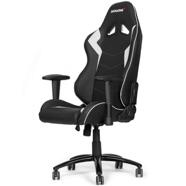 כסא לגיימרים - AKRACING , OCTANE , BLACK / WHITE AK RACING