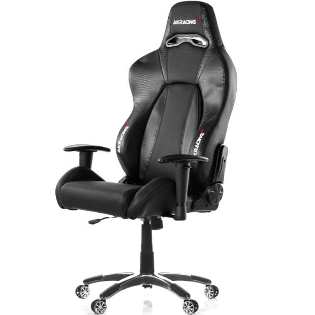 כסא לגיימרים - AKRACING , PREMIUM V2 , BLACK / CARBON AK RACING