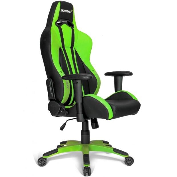 כסא לגיימרים - AKRACING , PREMIUM PLUS , BLACK / GREEN AK RACING