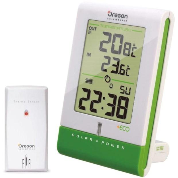 מד טמפרטורה אלחוטי דיגיטלי IN/OUT עם שעון מעורר - RMR331ESU OREGON SCIENTIFIC