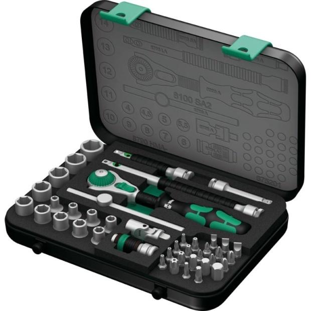 סט מפתח רצ'ט מקצועי ''1/4 - 42 יחידות - WERA 8100 SA 2 WERA