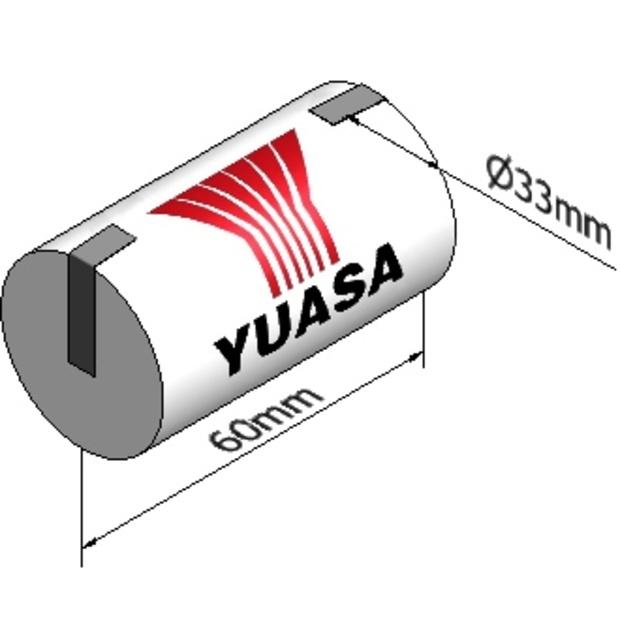 סוללה תעשייתית נטענת - YUASA 1DH4-0T - 1.2V 4AH YUASA