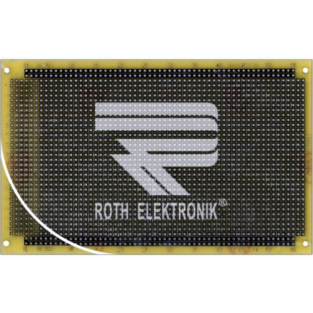לוח נקודות הלחמה דו צדדי - 100X160MM FR4 PTH ROTH ELEKTRONIK