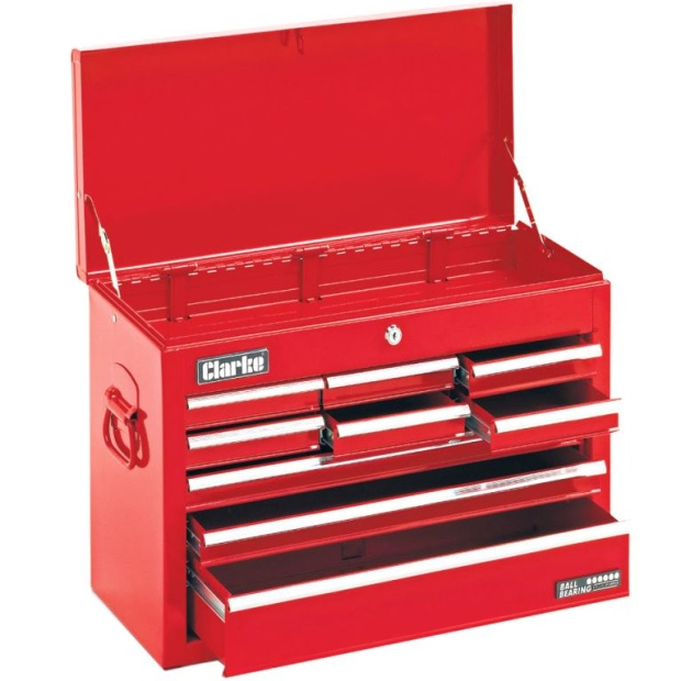 ארגז כלים מפלדה - 9 מגירות + תא עליון - CLARKE CTC900 CLARKE