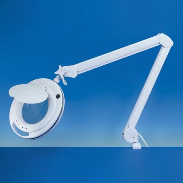 מנורת עבודה שולחנית עם זכוכית מגדלת - PRO LED III - הגדלה X3 / X5 LIGHTCRAFT