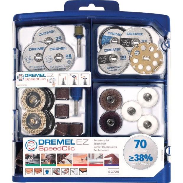 ערכת 70 אביזרים רב תכליתיים למשחזת ציר - DREMEL SC725 DREMEL