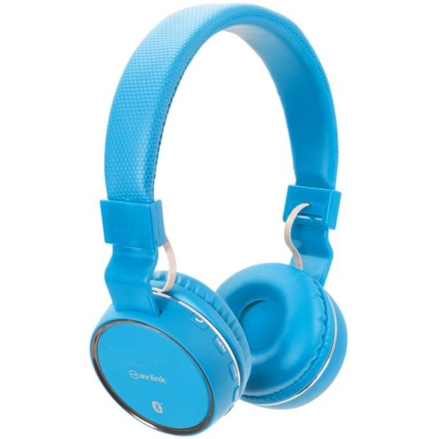 אוזניות BLUETOOTH עם רדיו AV:LINK PBH10 BLU - FM AV:LINK