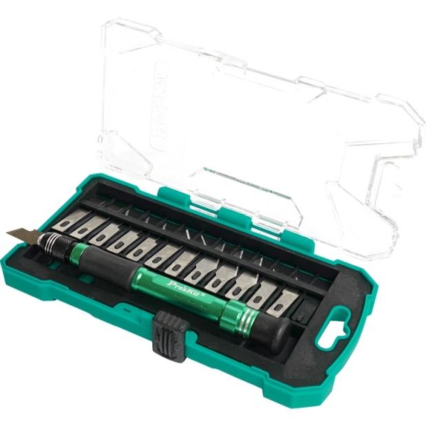 ידית סקלפל עם סט 13 להבים - PROSKIT PD-398 PROSKIT