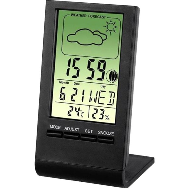 מד טמפרטורה / לחות דיגיטלי - HAMA TH-100 BLACK HAMA