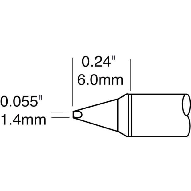 ראש לידית מלחם - METCAL CVC-8CH0014P - CHISEL 1.5MM METCAL