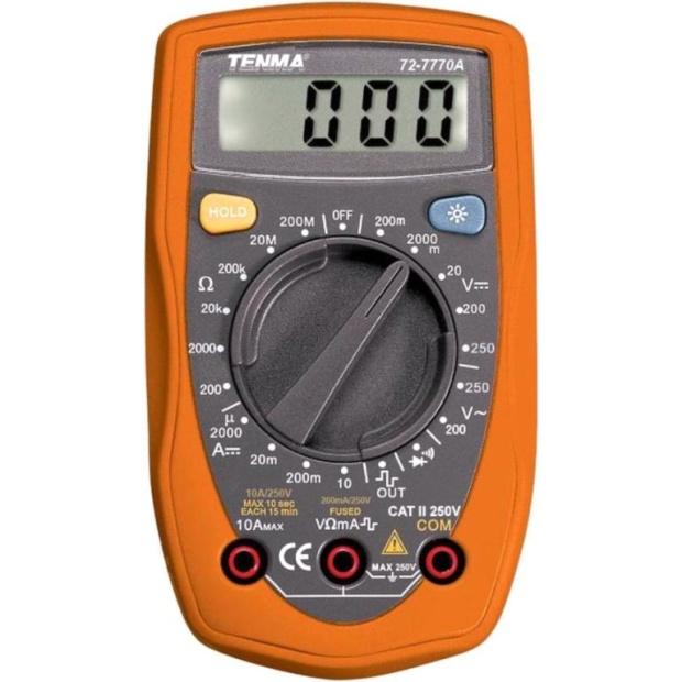 רב מודד מולטימטר דיגיטלי - PALM SERIES - 72-7770A TENMA