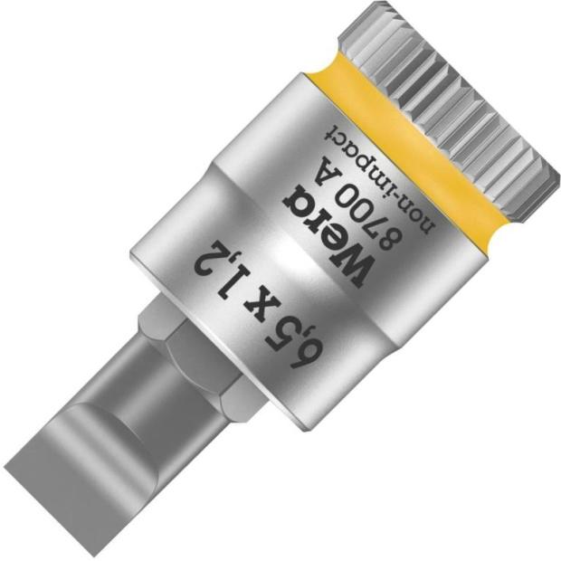 ביט שטוח 6.5MM X 1.2MM למפתח ''1/4 - WERA ZYKLOP 8700 WERA