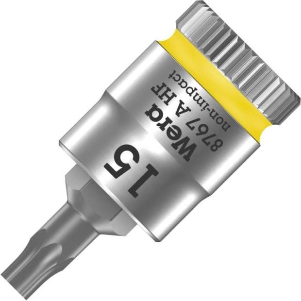 ביט כוכב TX15 למפתח ''1/4 - WERA ZYKLOP 8767 WERA