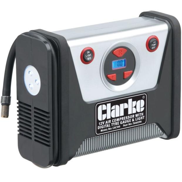 קומפרסור מקצועי לרכב CLARKE CAC100 - 12V CLARKE