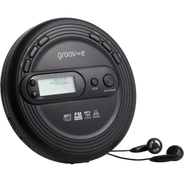דיסקמן MP3 עם רדיו GROOV-E GV-PS210-BK - AM/FM GROOV-E