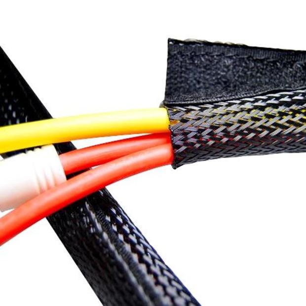 שרוול הגנה HOOK & LOOP WRAP לכבלים - קוטר 32 מ''מ - אורך 1 מטר PRO-POWER