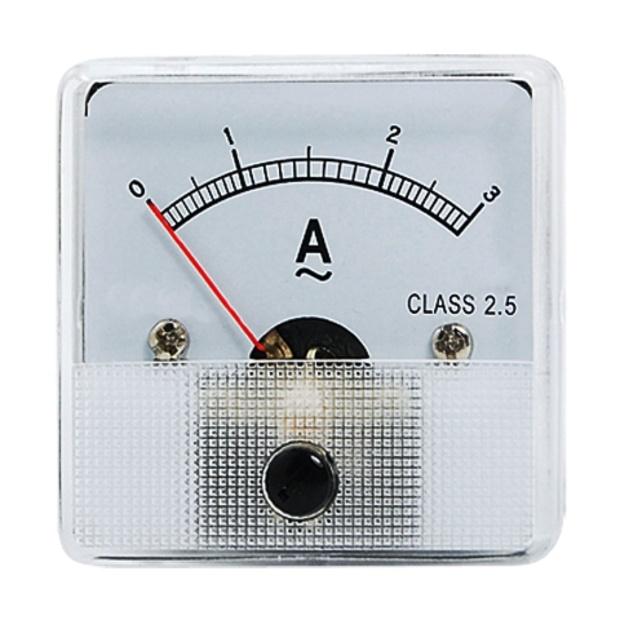 מד זרם (אמפרמטר) אנלוגי - 45MM X 45MM , 0-3A MULTICOMP