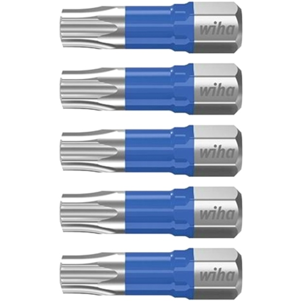חבילת ביטים למברגה - ראש כוכב - WIHA 41606 - T20 X 25MM WIHA