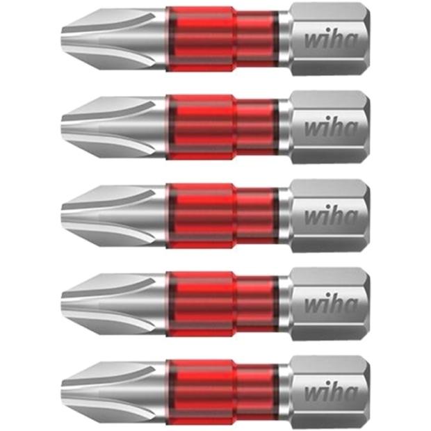 חבילת ביטים למברגה - ראש פיליפס - WIHA 42096 - PH1 X 25MM WIHA