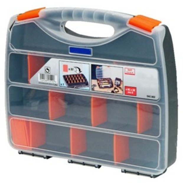 קופסת אחסון לרכיבים עם מחיצות נשלפות - 320X260X50MM DURATOOL