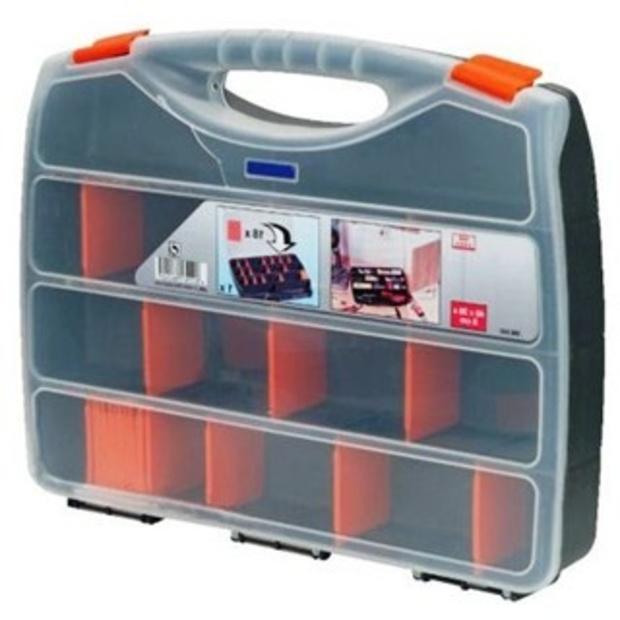 קופסת אחסון לרכיבים עם מחיצות נשלפות - 480X380X80MM DURATOOL