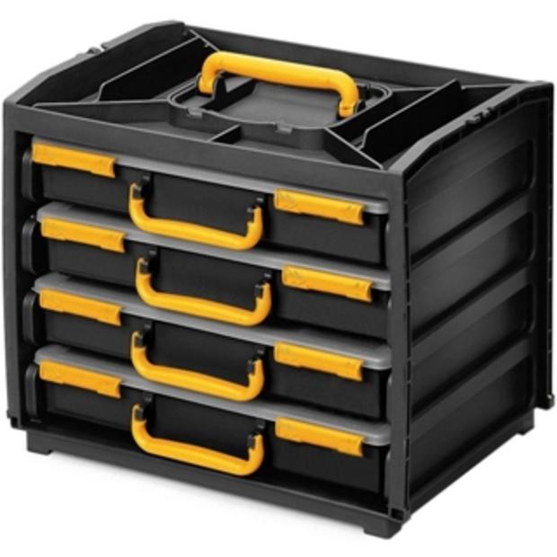 מערכת ניידת לאחסון רכיבים - 375X310X265MM DURATOOL