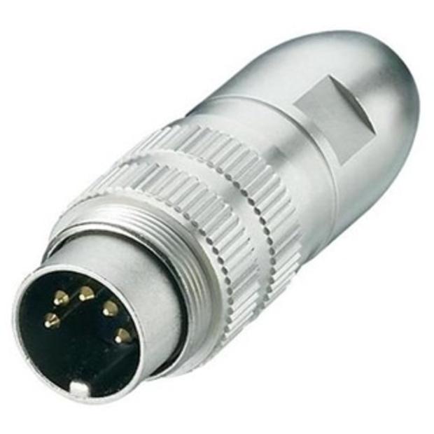 מחבר תעשייתי DIN 0332 - זכר להלחמה לכבל - 6 מגעים LUMBERG