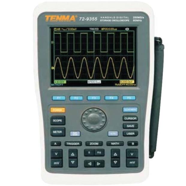 אוסילוסקופ ידני דיגיטלי - 2 ערוצים - 60MHZ - 250MSPS TENMA
