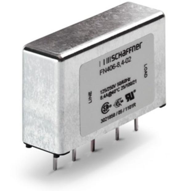 מסנן EMC / RFI למעגל מודפס - סדרה 500MA - FN406 SCHAFFNER
