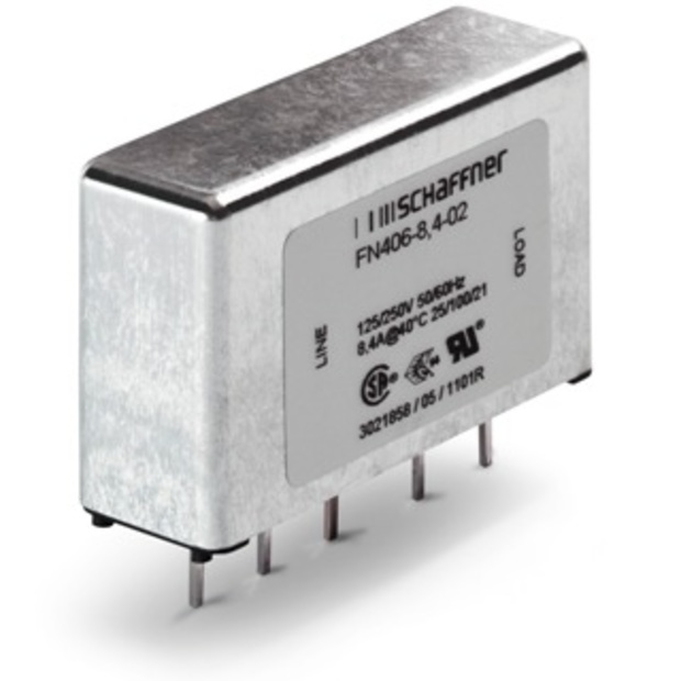 מסנן EMC / RFI למעגל מודפס - סדרה 3A - FN406 SCHAFFNER