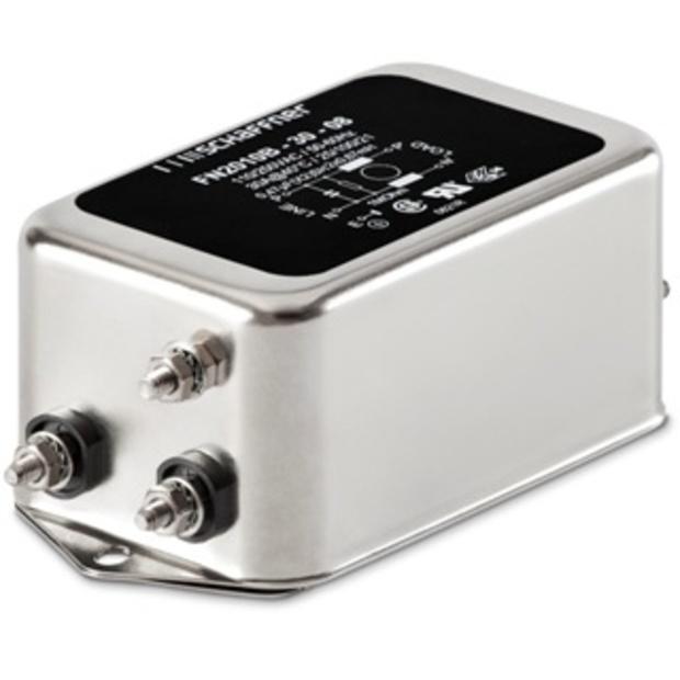 מסנן EMC / RFI עם חיבור לפאנל - סדרה 6A - FN2010 SCHAFFNER
