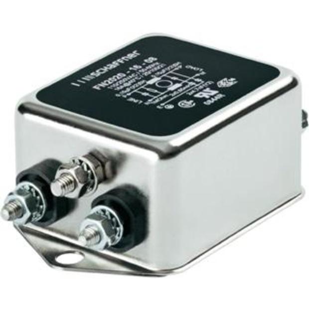 מסנן EMC / RFI עם חיבור לפאנל - סדרה 16A - FN2020 SCHAFFNER
