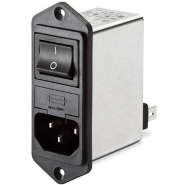 מסנן EMC / RFI עם כניסת מתח IEC - סדרה 1A - FN282 SCHAFFNER