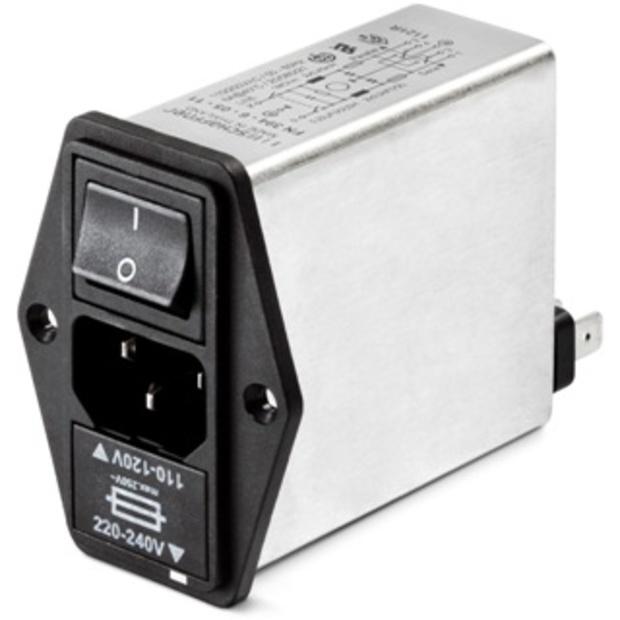 מסנן EMC / RFI עם כניסת מתח IEC - סדרה 6A - FN393 SCHAFFNER
