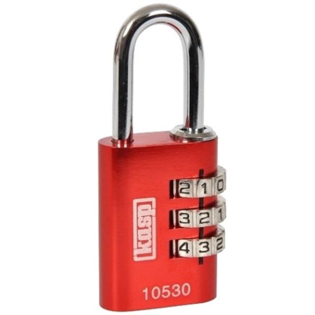 מנעול 3 ספרות (קומבינציה) - 20MM - אדום - KASP SECURITY KASP SECURITY