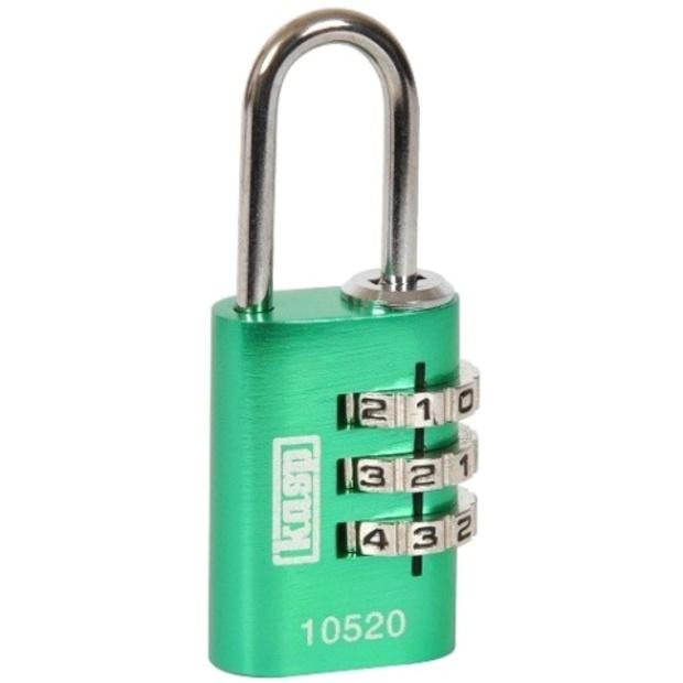 מנעול 3 ספרות (קומבינציה) - 30MM - ירוק - KASP SECURITY KASP SECURITY