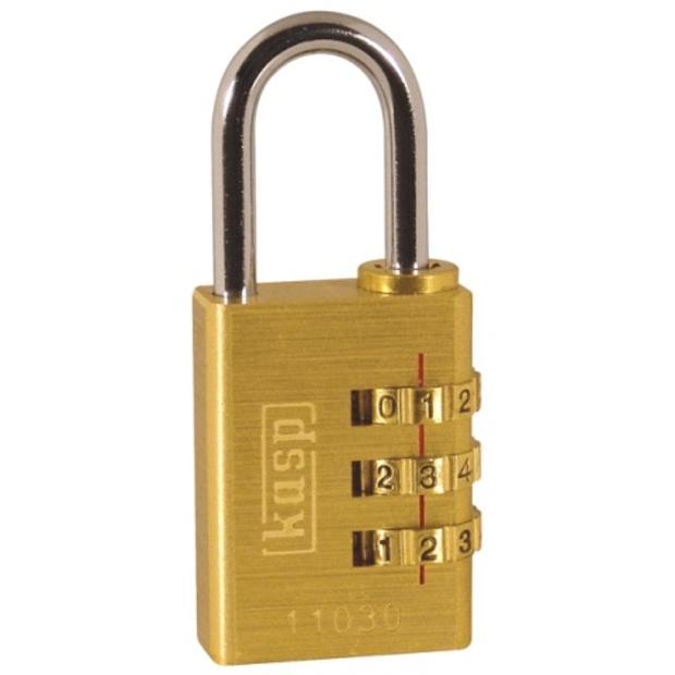 מנעול 3 ספרות (קומבינציה) מקצועי - KASP SECURITY - 30MM KASP SECURITY